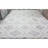 Ottoman pattern cream carpet cover