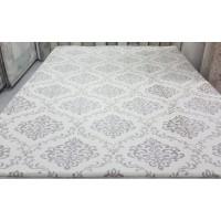 Ottoman pattern cream carpet cover