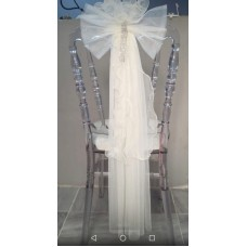 Tiffany chair tulle adornment wholesale prices