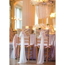 Tiffany wedding chair cover accessories