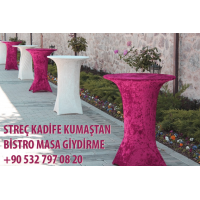 Flexible velvet bistro tablecloth wholesale