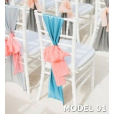 Tiffany wedding chair cover tulle design