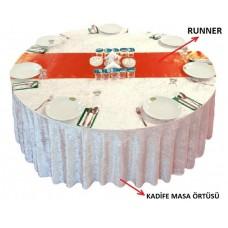 Large velvet tablecloth